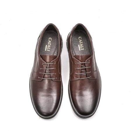 Pantofi barbati casual din piele naturala, 181585CR, maro5