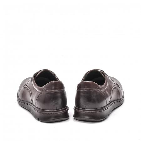 Pantofi barbati casual din piele naturala, 181585CR, maro6