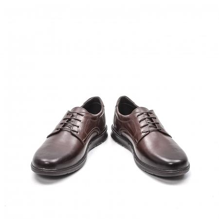 Pantofi barbati casual din piele naturala, 181585CR, maro4