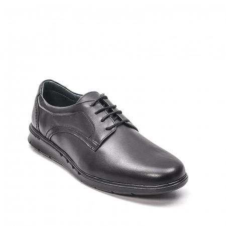 Pantofi barbati casual din piele naturala, 181585CR, negru0