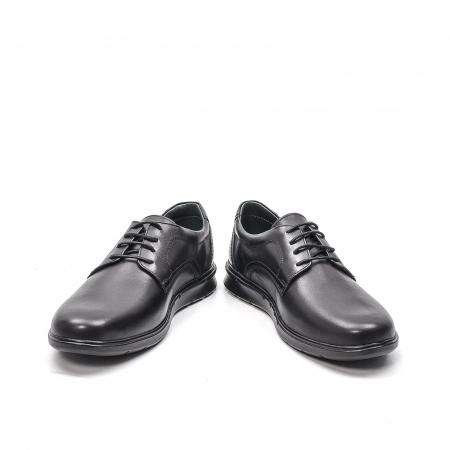 Pantofi barbati casual din piele naturala, 181585CR, negru4