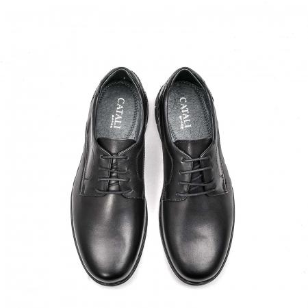 Pantofi barbati casual din piele naturala, 181585CR, negru5