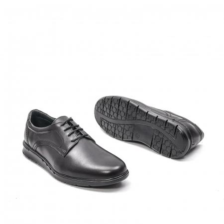 Pantofi barbati casual din piele naturala, 181585CR, negru3