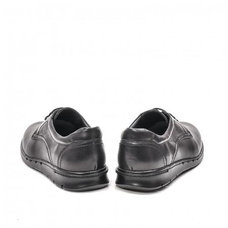 Pantofi barbati casual din piele naturala, 181585CR, negru6
