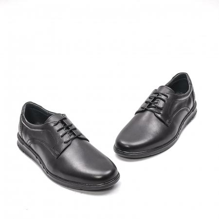 Pantofi barbati casual din piele naturala, 181585CR, negru1