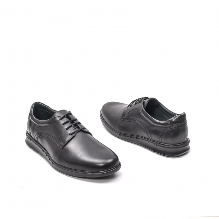 Pantofi barbati casual din piele naturala, 181585CR, negru2
