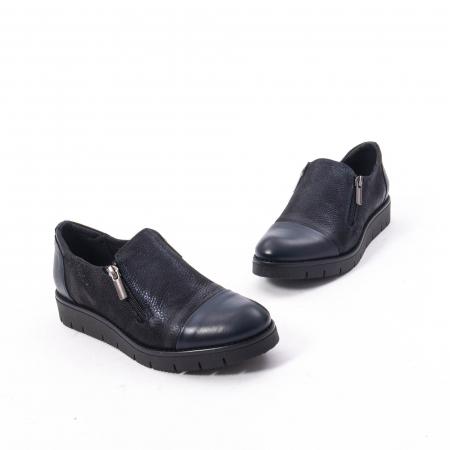 Pantofi casual dama din piele naturala, Catali 182634,bleumarin2