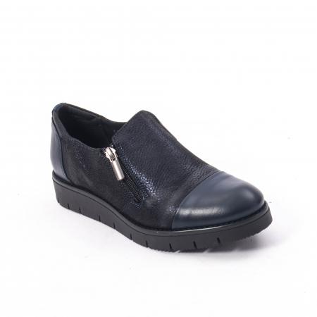 Pantofi casual dama din piele naturala, Catali 182634,bleumarin0