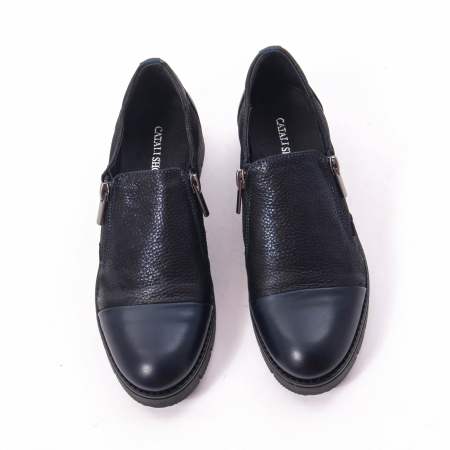 Pantofi casual dama din piele naturala, Catali 182634,bleumarin5
