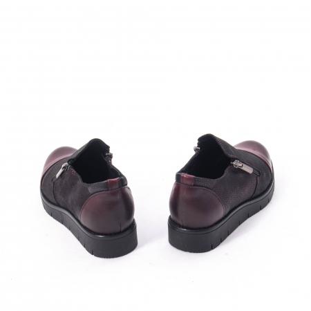 Pantofi casual dama din piele naturala, Catali 182634, bordo3
