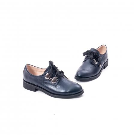 Pantofi casual dama din piele naturala, bleumarin, Epica jixs320- 42-N1