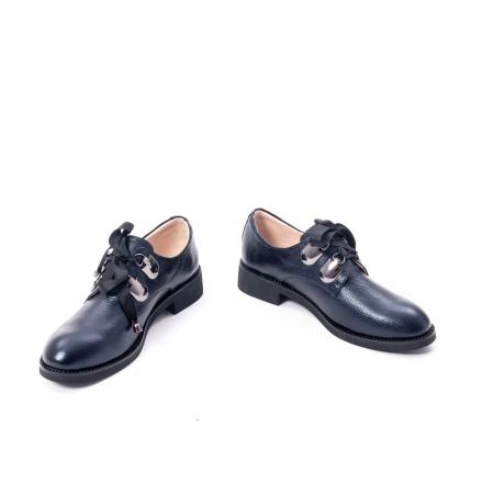 Pantofi casual dama din piele naturala, bleumarin, Epica jixs320- 42-N4