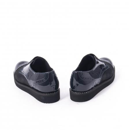 Pantofi casual dama piele naturala lacuita Catali 182632, bleumarin6