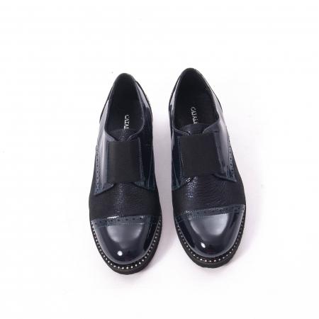 Pantofi casual dama piele naturala lacuita Catali 182632, bleumarin5