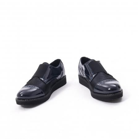 Pantofi casual dama piele naturala lacuita Catali 182632, bleumarin4