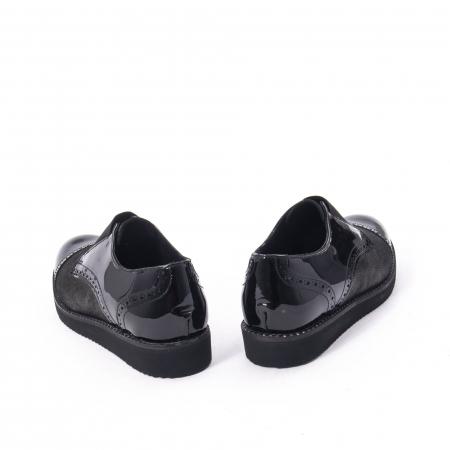 Pantofi casual dama din piele naturala lacuita Catali 182632, negru2
