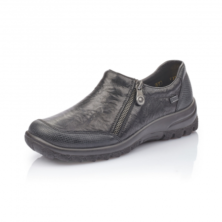 Pantofi casual dama din piele naturala,Rieker 7152 negru