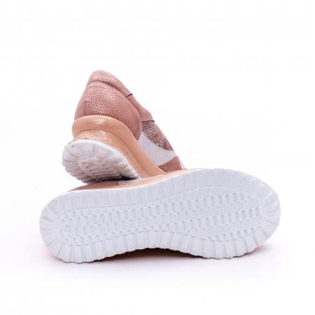 Pantofi casual dama, piele naturala, Nike Invest 1192, roz-argintiu2