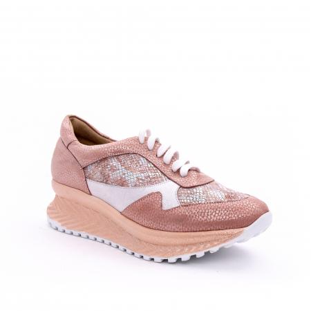 Pantofi casual dama, piele naturala, Nike Invest 1192, roz-argintiu0