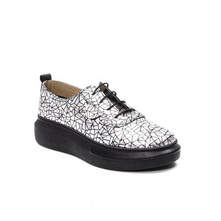 Pantofi dama casual din piele naturala, Psc C592100 K7-N, gri metal0