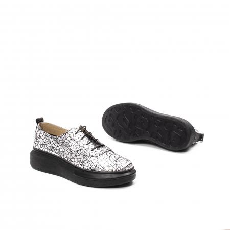 Pantofi dama casual din piele naturala, Psc C592100 K7-N, gri metal3