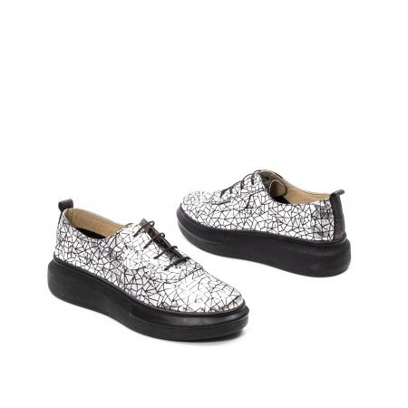 Pantofi dama casual din piele naturala, Psc C592100 K7-N, gri metal2