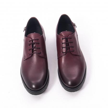 Pantofi casual dama, piele naturala Catali 162602 bordo5