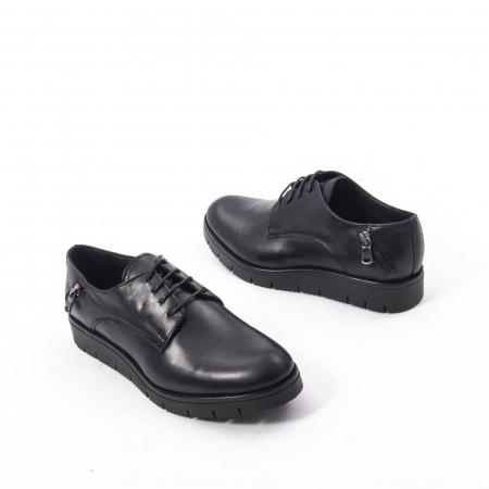 Pantofi casual dama, piele naturala Catali 162602 negru2
