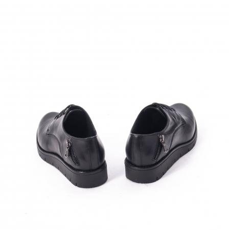 Pantofi casual dama, piele naturala Catali 162602 negru6