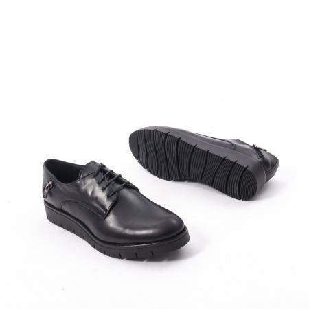 Pantofi casual dama, piele naturala Catali 162602 negru3