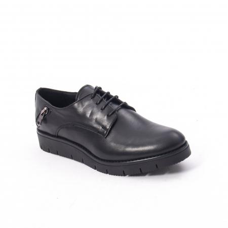 Pantofi casual dama, piele naturala Catali 162602 negru0