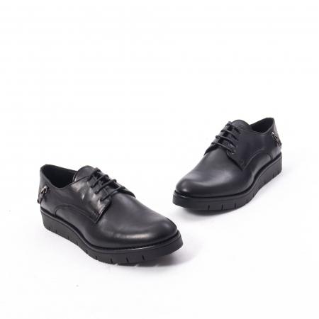 Pantofi casual dama, piele naturala Catali 162602 negru1