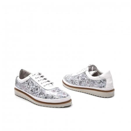 Pantofi dama casual din piele naturala, 171608NP, alb2