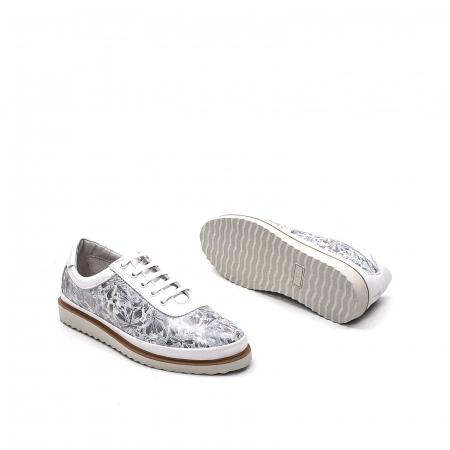 Pantofi dama casual din piele naturala, 171608NP, alb3