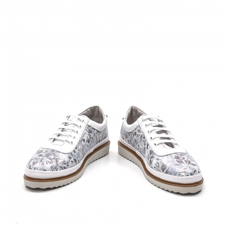Pantofi dama casual din piele naturala, 171608NP, alb4