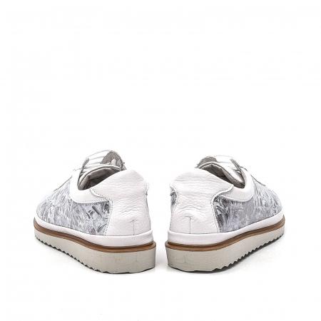 Pantofi dama casual din piele naturala, 171608NP, alb6