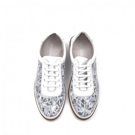 Pantofi dama casual din piele naturala, 171608NP, alb5