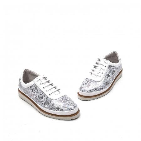 Pantofi dama casual din piele naturala, 171608NP, alb1