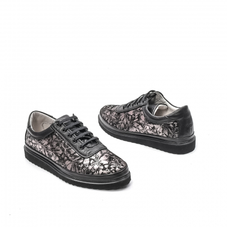 Pantofi dama casual din piele naturala, 171608NP, negru2