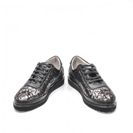 Pantofi dama casual din piele naturala, 171608NP, negru4