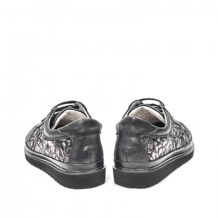 Pantofi dama casual din piele naturala, 171608NP, negru6