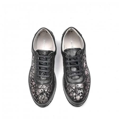 Pantofi dama casual din piele naturala, 171608NP, negru5