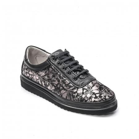 Pantofi dama casual din piele naturala, 171608NP, negru0