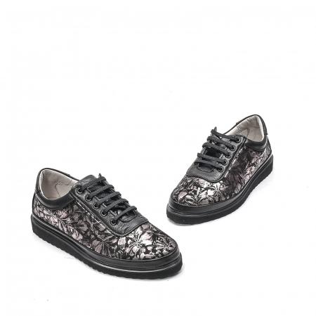 Pantofi dama casual din piele naturala, 171608NP, negru1