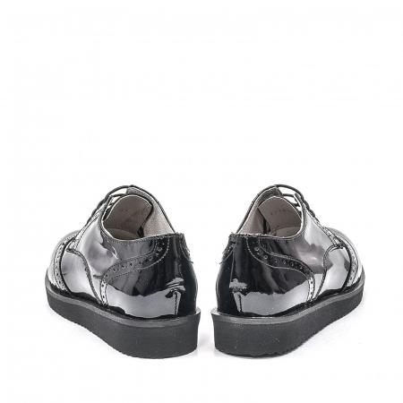 Pantofi dama casual din piele naturala,171611, negru lac6