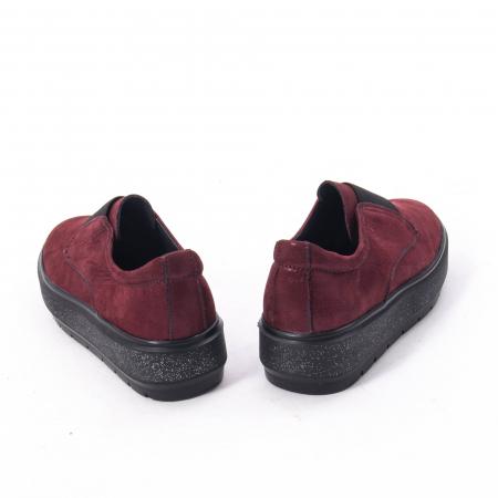 Pantofi casual dama piele naturala Catali 192658, bordo1