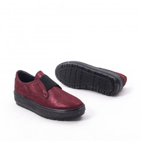 Pantofi casual dama piele naturala Catali 192658, bordo5