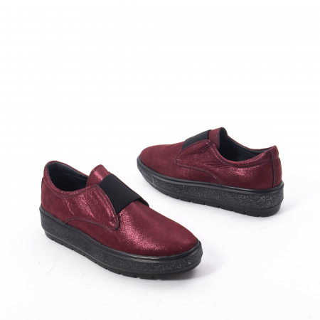 Pantofi casual dama piele naturala Catali 192658, bordo6