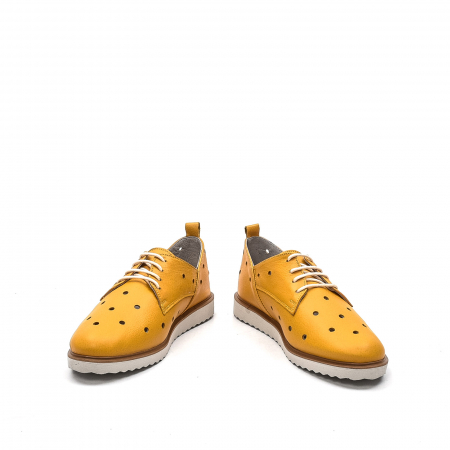Pantofi dama casual din piele naturala, 201672NP, muștar4