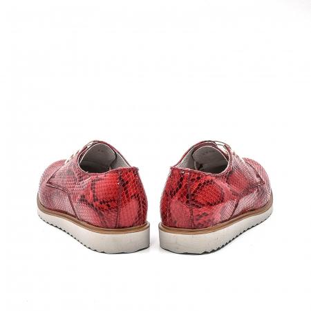 Pantofi dama casual din piele naturala, 201673CRO, rosu6